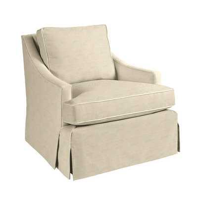Candace Chair - Pique Flax Sunbrella Performance - Ballard Designs
