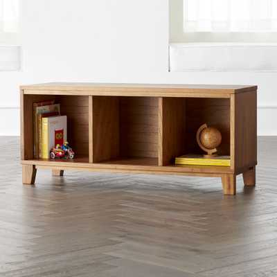 District 3-Cube Wood Stackable Bookcase - Crate and Barrel
