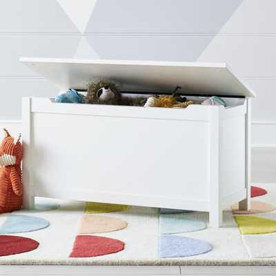 White Wooden Toy Box - Crate and Barrel
