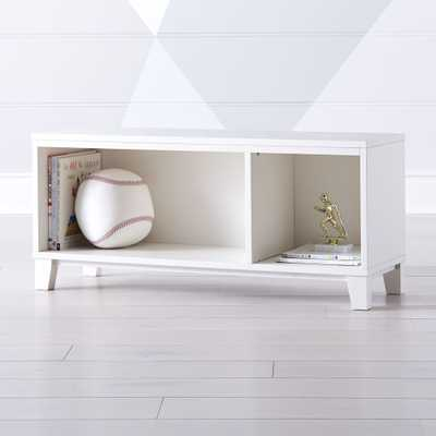 District 2-Cube White Stackable Bookcase - Crate and Barrel
