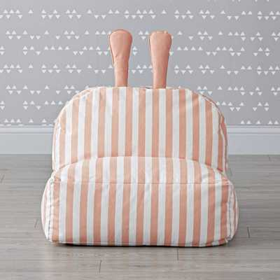 Striped Bunny Bean Bag Chair - Crate and Barrel