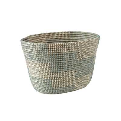 Merchant Aqua Floor Basket - Crate and Barrel