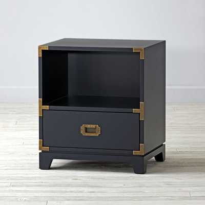 Kids Navy Blue Campaign Nightstand - Crate and Barrel