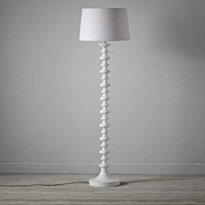 Jenny Lind White Floor Lamp - Crate and Barrel