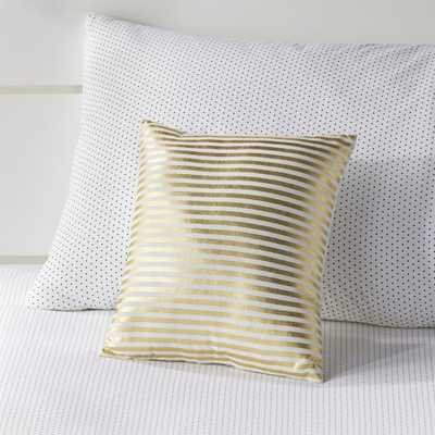 Gold Pinstripe Throw Pillow - Crate and Barrel
