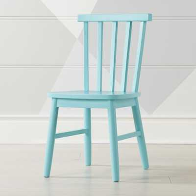 Shore Light Blue Kids Chair - Crate and Barrel
