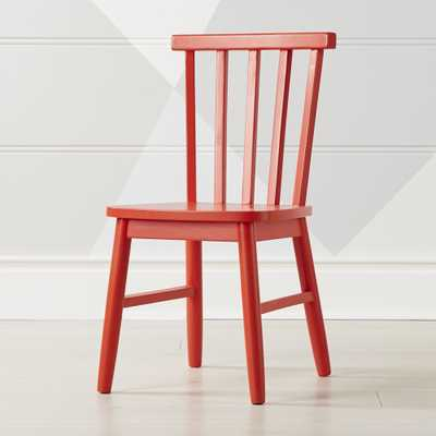 Shore Red Kids Chair - Crate and Barrel