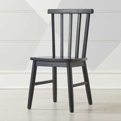 Shore Charcoal Kids Chair - Crate and Barrel