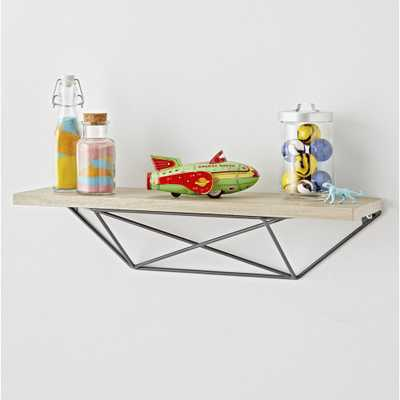 Metal and Wood Geometric Shelf - Crate and Barrel