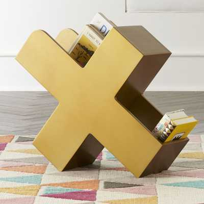 X Gold Book Caddy - Crate and Barrel