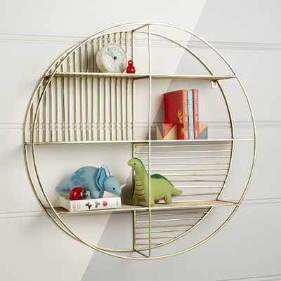 Gold Circle Wall Shelf - Crate and Barrel