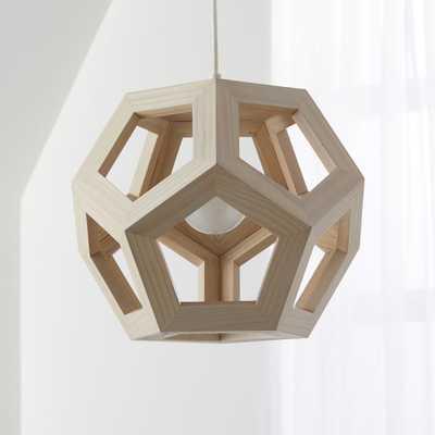 Wood Geometric Pendant Light - Crate and Barrel