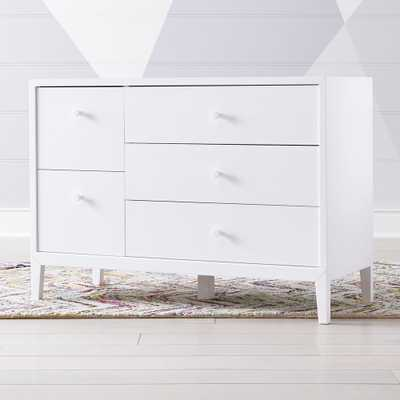 Kids Ever Simple White Wide Dresser - Crate and Barrel