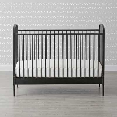 Larkin Black Metal Crib - Crate and Barrel