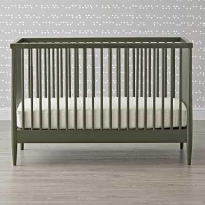 Hampshire Olive Green Crib - Crate and Barrel