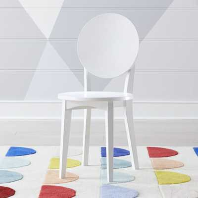 Kids Double Dot White Desk Chair - Crate and Barrel
