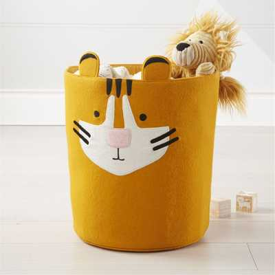 Tiger Storage Bin - Crate and Barrel