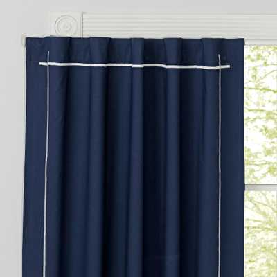 """Genevieve Gorder 84"""" Navy Blackout Curtain - Crate and Barrel"""