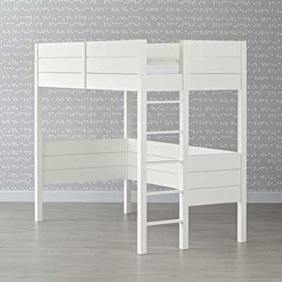 Uptown White Twin Loft Bed - Crate and Barrel