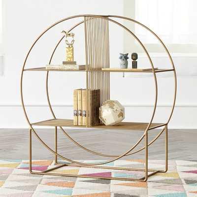 Wheelhouse Round Bookcase - Crate and Barrel