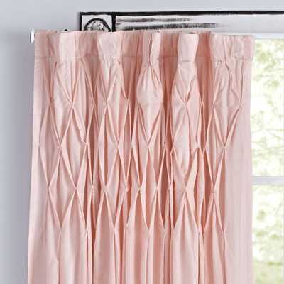 "Chic 96"" Pink Curtain - Crate and Barrel"