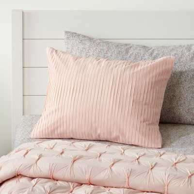 Chic Pleated Pink Sham - Crate and Barrel