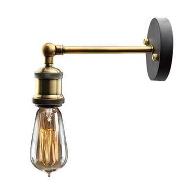 LNC 1-Light Bronze Adjustable Arm Wall Sconce - Home Depot