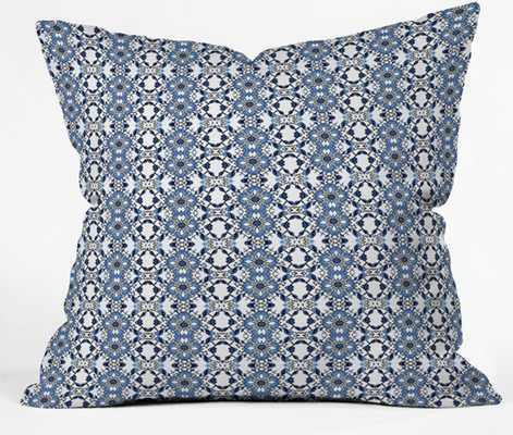 BLUE JEWELS Throw Pillow By Lisa Argyropoulos- 20x20 with insert - Wander Print Co.