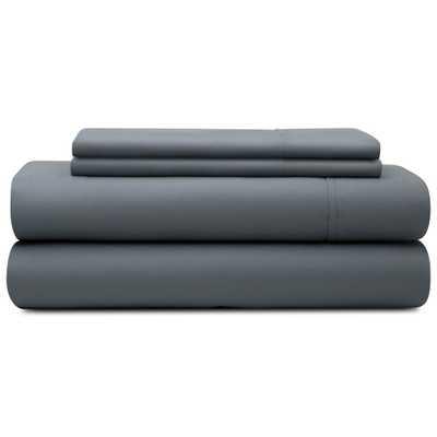 4-Piece Slate (Grey) Microfiber King Sheet Set - Home Depot