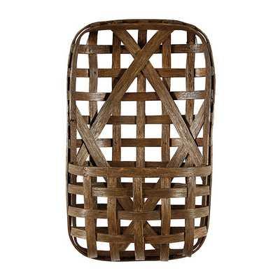 Tobacco Basket Wall Pocket, Wood - Ballard Designs