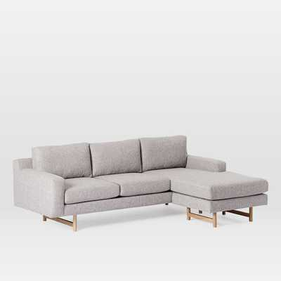 Eddy Reversible Sectional - Large feather gray - West Elm