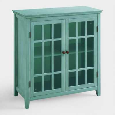 Antique Turquoise Double Door Storage Cabinet - World Market/Cost Plus