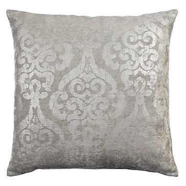 "Serena Pillow 24"" - Silver - Z Gallerie"