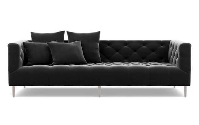 Ms. Chesterfield - Narwhal Mod Velvet, Brushed Nickel Plated Legs, Custom Sofa - Interior Define