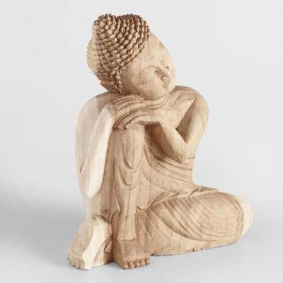Carved Suar Wood Resting Buddha - World Market/Cost Plus