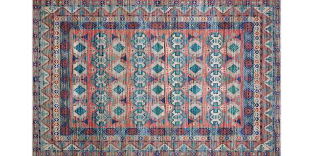 CIE-05 TERRACOTTA / MULTI, 8' x 10' - Loma Threads