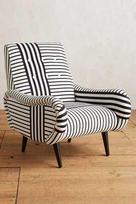 Banded Stripe Losange Chair - Anthropologie
