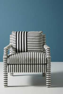 Banded Stripe Delaney Chair - Anthropologie
