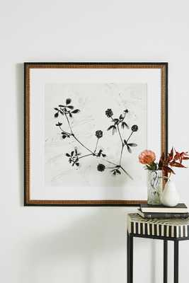 Field Flower Wall Art - Gold Crackle Bead Wood - Anthropologie