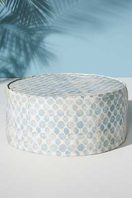 Mod Fret Clive Indoor/Outdoor Ottoman - Anthropologie