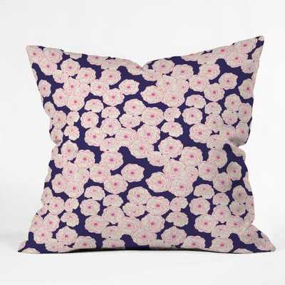 FLORAL SOPHISTICATION IN NAVY, PILLOW COVER ONLY - Wander Print Co.