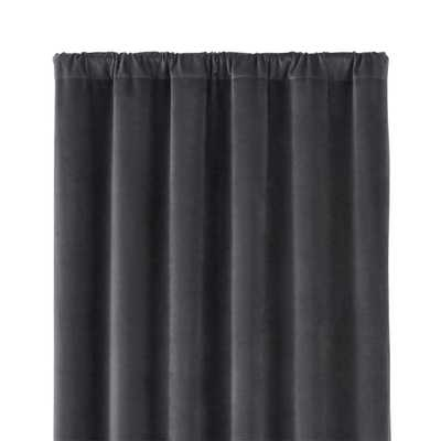 "Windsor Dark Grey 48""x96"" Curtain Panel - Crate and Barrel"