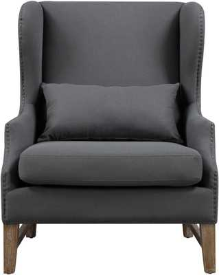 Daphne Morgan Linen Wing Chair - Maren Home