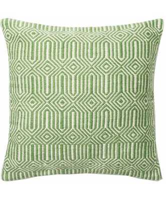 "P0339 INDOOR/OUTDOOR PILLOW, GREEN - 22"" x 22"" - Polyester Filled - Loma Threads"