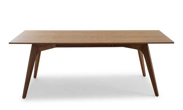 Hesse Mid Century Modern (Wood Top) Dining Table - Walnut - Joybird