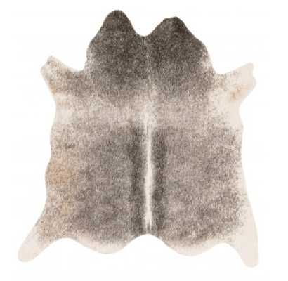 Winsley Faux Cowhide Rug, Ivory and Grey - Lulu and Georgia