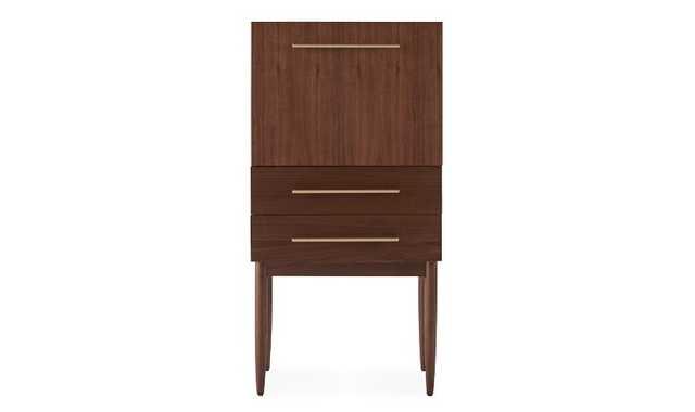 Cortney Mid Century Modern Bar Cabinet - Walnut - Joybird