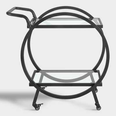Black Metal Circle Frame Bar Cart by World Market - World Market/Cost Plus