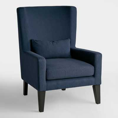 Indigo Blue Triton High Back Chair - Fabric by World Market - World Market/Cost Plus