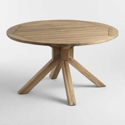 Round Natural Wood Vallarta Outdoor Patio Dining Table by World Market - World Market/Cost Plus